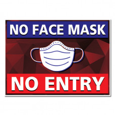 No Face Mask No Entry Stickers – Pack of 2