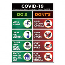 COVID-19 Posters – A2 – Pack of 3