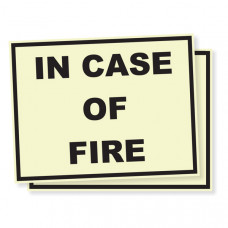 In Case Of Fire – Glow in the Dark Stickers (Pack of 50)